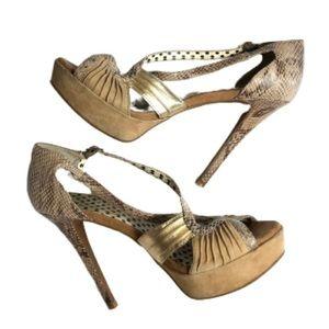 Jessica Simpson leopard print heels shoes size 8